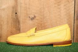 bass weejuns soft lemon yellow leather penny
