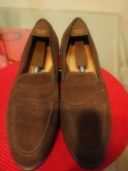 Allen Edmonds Brown Suede penny loafers. 12E. Only $69.00