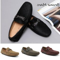 Bruno Marc Mens Casual Driving Antiskid Loafers Leather Slip