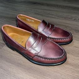 cavanaugh penny loafers brown shoes oxblood color