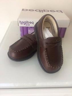 daniel boys adjustable leather penny loafers size