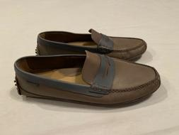 Cole Haan Grant Canoe Penny Loafer Driving Shoe Brown Blue S