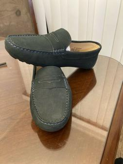 Marc Joseph New York Green Suede Penny Loafers