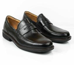 Ecco Holton Penny Loafer 621184 Black Leather Casual Men's s