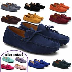 Hot US7-12 Men's Loafers Driving Moccasins casual soft suede