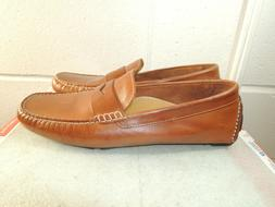 COLE HAAN 'Howland' Brown Leather Penny Loafer / Driving Moc