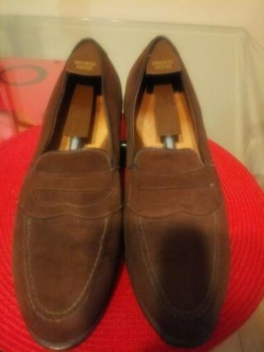 brown suede penny loafers 12e only 69