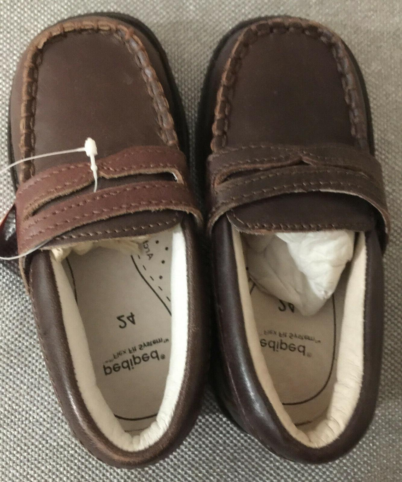 daniel boys adjustable leather penny loafers 7