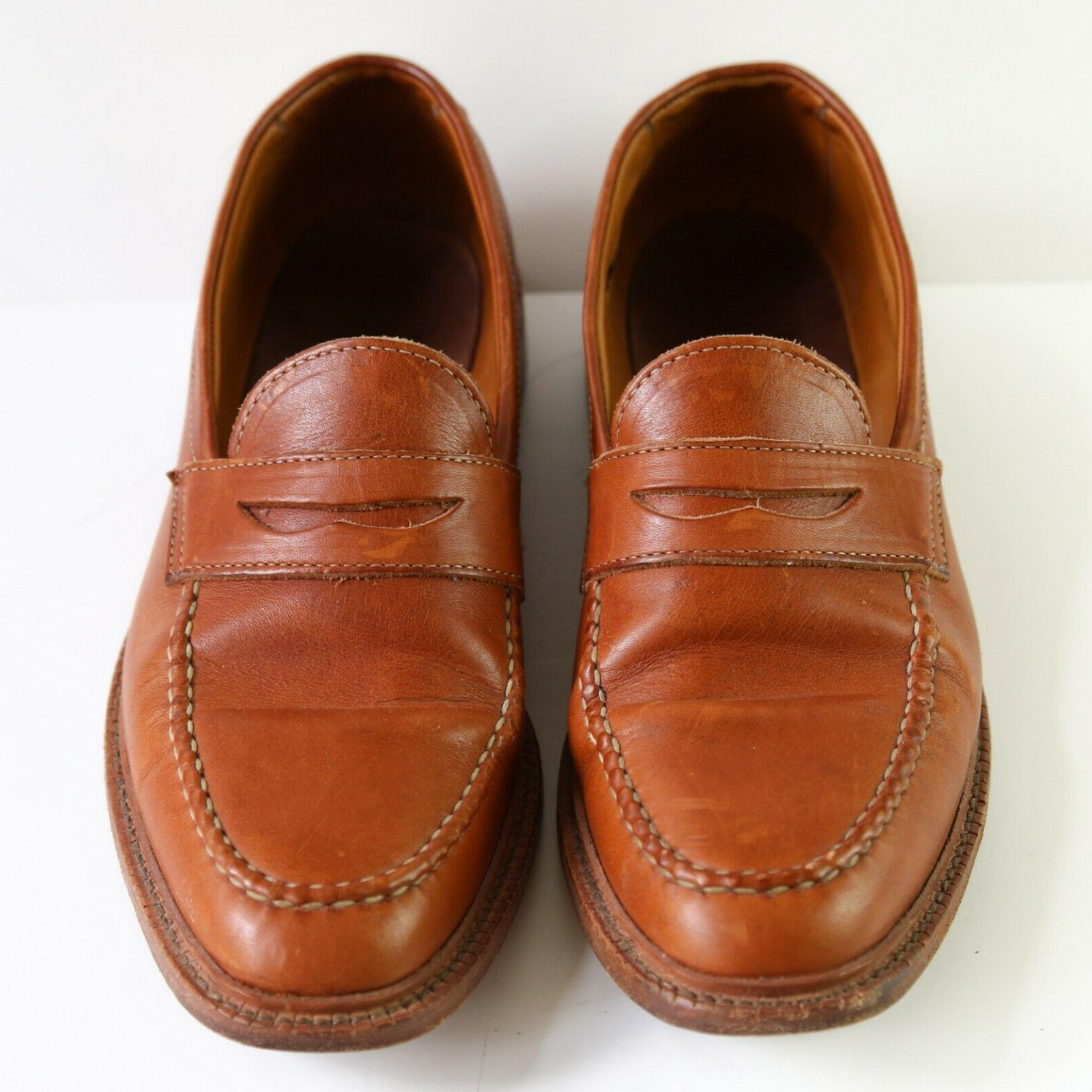 Allen Penny Loafers Size 12 D Brown Made in