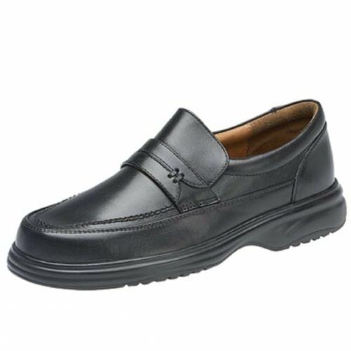 mens leather slip on wide fit casual