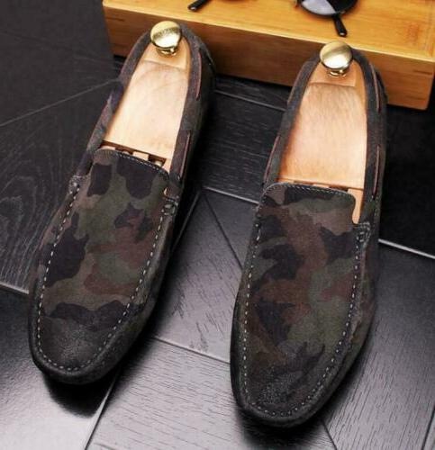 new men minimalism driving loafers suede leather