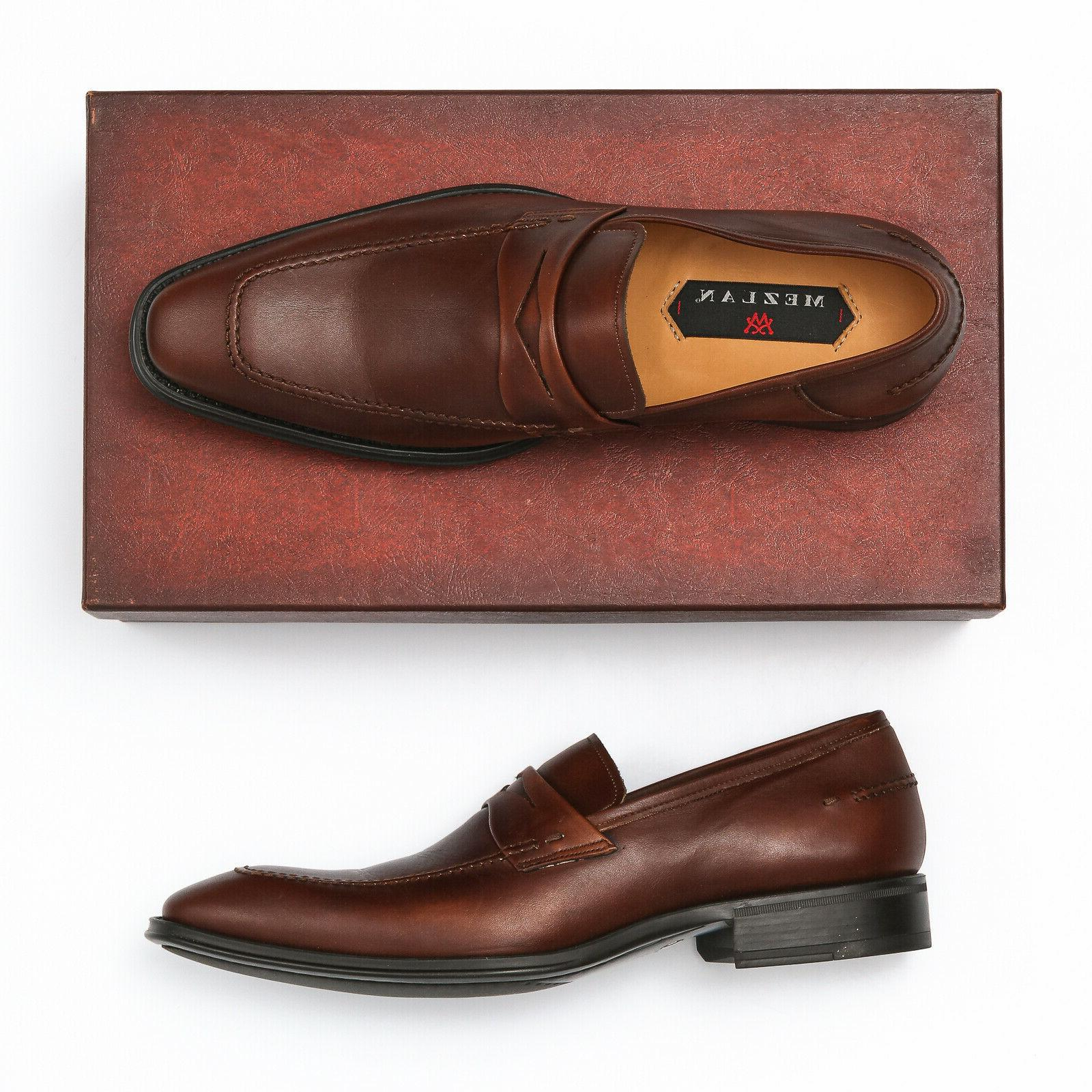 trento cognac brown penny loafers size 8
