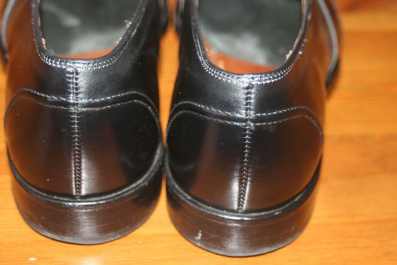 10.5 USA Black Leather Loafers