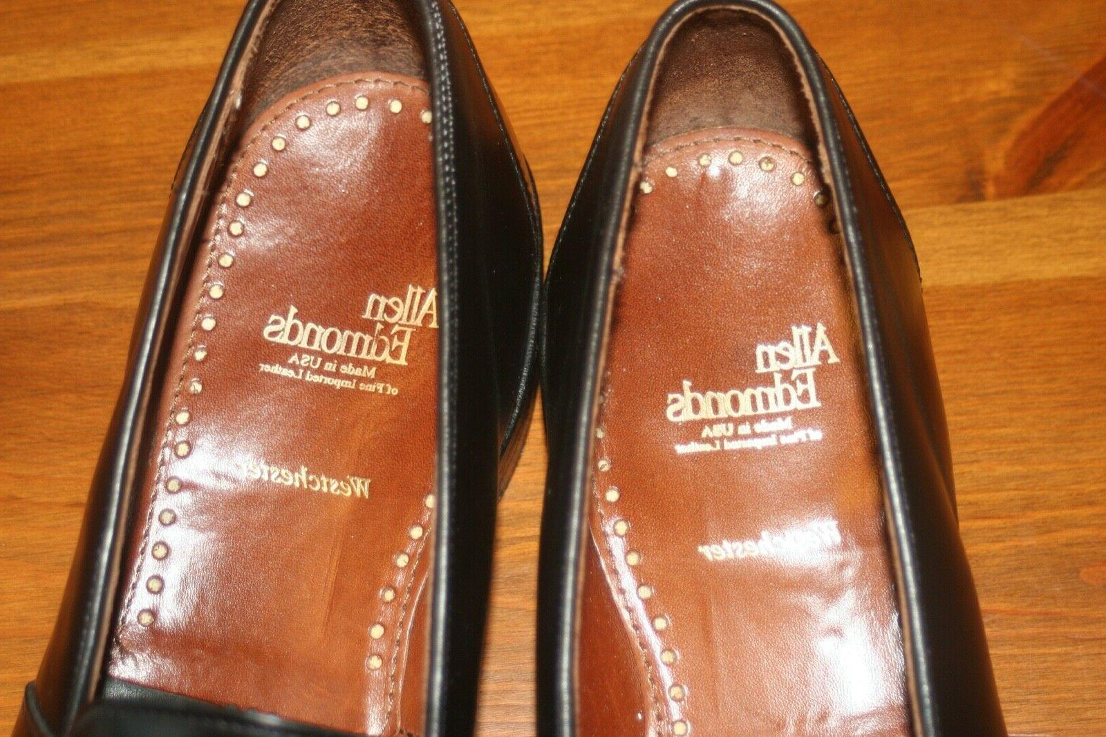 Allen Edmonds 10.5 Made In USA Black Penny Loafers