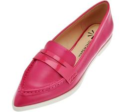 Isaac Mizrahi Live Leather Featherweight Penny Loafers Women