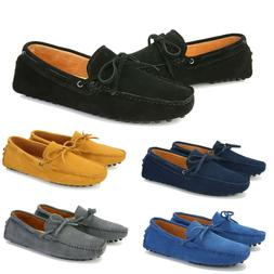 Men Antiskid Loafers Driving Moccasins Casual Soft Suede Lea