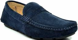 Bruno Marc Men's Lane-01 Suede Leather Penny Loafers Moccasi