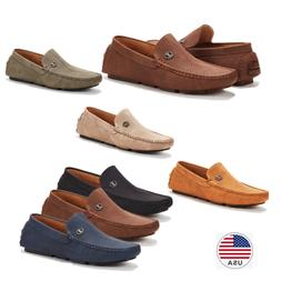 Men's Penny Casual Moc-Toe Slip On Boat Shoe Driving Lightwe