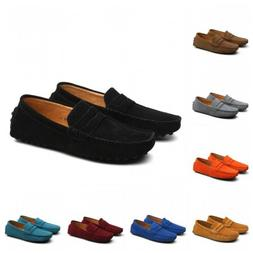 Mens Casual Driving Loafers Flat Boats Moccasins Slip On Pen