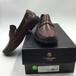 Marc Joseph Mens Cortland Street Penny Loafers Shoes Brown S