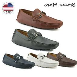 mens driving penny slip on loafers boat