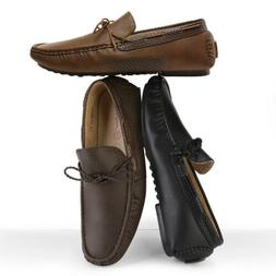 Mens Penny Loafers Moccasin Slip On Flats Driving Casual Boa