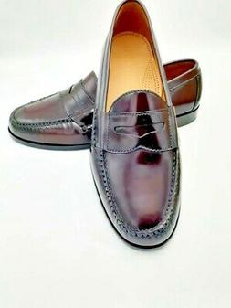 Cole Haan Mens Pinch Penny Loafers Burgundy Slip On Moc Toe