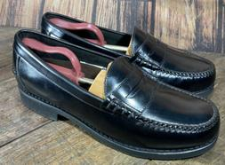 NEW ROCKPORT Black Leather Penny Loafers MENS Size 10W Shoes
