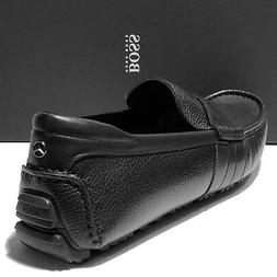 NEW Hugo Boss ITALY Black Mercedes Benz Driver Moccasins 12
