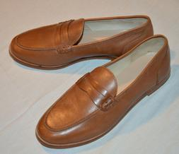 NEW J.Crew Ryan Womens Sz 9 US Brown Penny Loafers Leather C