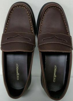 NEW/NIB Bass  Boy's Brown Leather Penny Loafers Shoes - Size