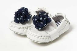 NEW Cole Haan White Mini Penny Driver Baby Shoes Penny Loafe