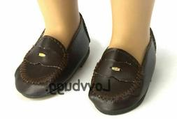 Penny Loafers for American Girl 18 inch Doll Saddle Oxford S
