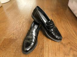 penny loafers made in italy black croc