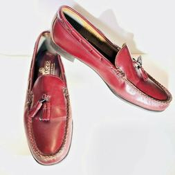 Sebago Red Burgundy Leather Penny Loafers Shoes Mens 9 EUC M