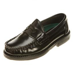 Boys Casual Shoes  Black Penny Loafers  Hush Puppies Youth S