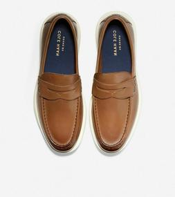 COLE HAAN Shoes Light Coffee-Ivory Leather Grand Plus Essex
