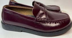 Sperry Top Sider Burgundy Leather Penny Loafers Boys Size 5