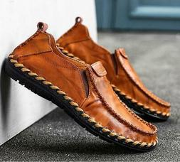 us men s leather shoes loafers hand