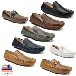 US Men's Penny  Driving Moccasins Loafer Faux leather  Slip