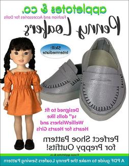 welliewishers doll sewing pattern penny loafers sewing
