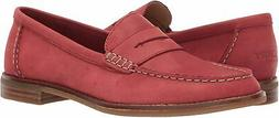 Sperry Women's Seaport Penny Leather Loafer, Washed Red, Siz