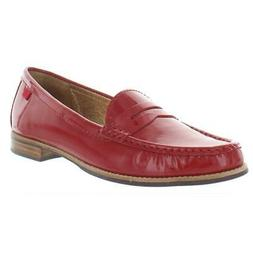 Marc Joseph Womens East Village Red Penny Loafers Shoes 8 Me
